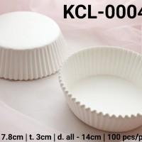 KCL-0004-B Kertas cupcake DIVA cupcake case besar large putih