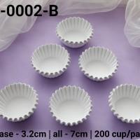 RCC-0002-B Kertas cupcake kertas nastar dragon pack kecil putih