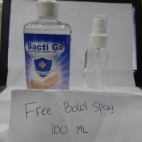 Aseptic Cair spray Bacti Go Hand Sanitizer 500 ml free botol spray