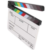 Papan Desktripsi Sutradara // Direktor Video Clapper Studio Backdrop