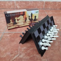 Papan Catur Magnet Lipat Portable - Mainan Magnetic Chess Board Game