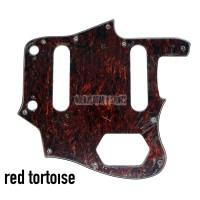Pickguard Fender Jaguar Red Tortoise dan Larva 3 ply
