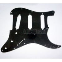Pickguard Stratocaster SSS Black