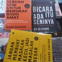 paket tiga buku motivasi sebuah seni untuk bersikap bodo amat bicara i