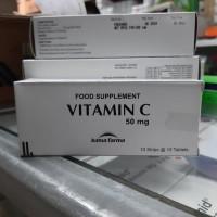 Vitamin C 50mg/suplemen tubuh/multivitamin