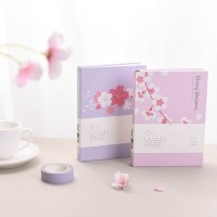 Cherry Blossom Hardcover Mixed Notebook A6 / Buku Tulis A6 / Buku A6