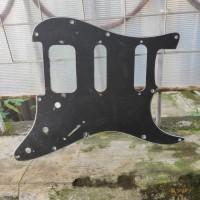 Pickguard HSS Humbucker-single-single 3 ply black