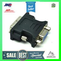 EASYIDEA Adapter VGA Female ke DVI-I (Dual Link) Male - Black