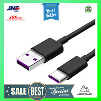 Essager Kabel Charger SuperCharger USB Type C 1 Meter 5A - EX3 - Blac