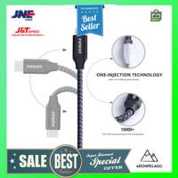 FONKEN Kabel Charger USB Type C Braided 1 Meter 2.4A - 2128AWG - Blac
