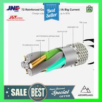 FLOVEME Kabel Charger Lightning Auto Power Off 2.1A 1.2 M - T34401 -