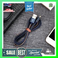 Bastec Kabel Charger Lightning Leather 1.2 Meter - Black