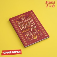 Notebook Harry Potter Gryffindor Quote Hardcover A5 Buku Catatan
