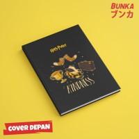 Notebook Harry Potter Hufflepuff Slogan Hardcover A5 Buku Catatan