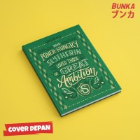 Notebook Harry Potter Slytherin Quote Hardcover A5 Buku Catatan