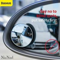 Baseus Kaca Spion Cembung Kecil Mini Wide Angle Blind Spot Car Mirrors