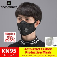 Masker N95 Rockbros Activated Carbon 5 ply Air Valve Protective Virus