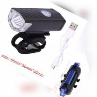 paket lampu sepeda depan dan belakang