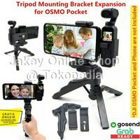Extended Mount Bracket Phone Clip Holder Tripod for DJI OSMO Pocket