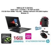 HP GAMING OMEN 15-DH0105TX I7 9750H 16GB 1TB+512GB-SSD RTX2060-6GB W10