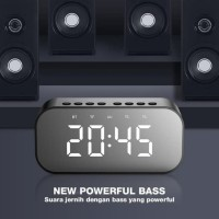 Speaker RB550 Bluetooth 5.0 With LED Display & Alarm