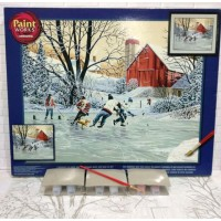 Paket Melukis Paint By Number Dimensions 91319 Farm Team Ice Hockey