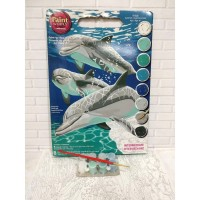 Paket Melukis Paint By Number Dimensions 91326 Sunlit Pals Dolphin