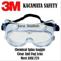 Kacamata Safety 3M - Kacamata Chemical Splash Goggle