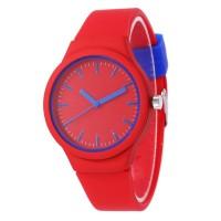 Jam Tangan Analog Strap Silikon Warna Permen untuk Wanita Jam Tangan