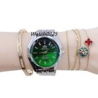 Jam tangan rantai Orient couple 5warna ready Fashion rantai pria