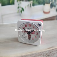 Jam Meja/ Weker Travel Alarm Clock Seiko QHE905W - Coca-Cola Edition