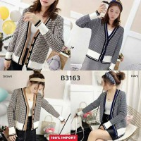 100% IMPORT British Thick Knit Cardigan B3163