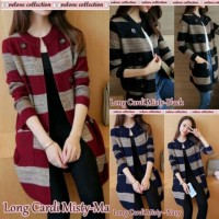 ADA REAL PIC Wn Long cardi misty 3warna.. LONGCARDI FASHION KOREA