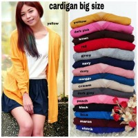 Cardigan rajut big size. Fit to xxxl. Pilihan warna seperti di foto.
