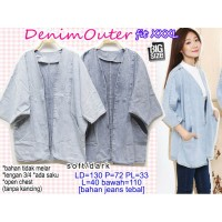 Denim Outer Cardigan Jeans XXXL JUMBO BIG SIZE