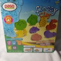Paso Flossy Clay Mainan Anak Edukasi 300 ml buah fruits kinetic sand