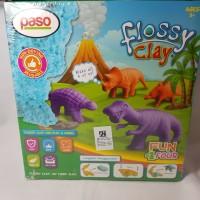 Paso Flossy Clay Dinosaurus Mainan Anak 150 ml Mainan edukasi SNI