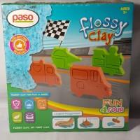 Paso Flossy Clay Cars Mainan Anak 150 ml edukasi mobil pasir kinetik
