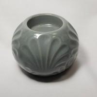 Tempat lilin unik emboss kerang candle holder keramik pajangan seni