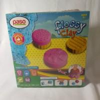 Paso Flossy Clay Mainan Edukasi Anak 150 ml cetakan kue kinetik sand