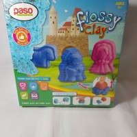 Paso Flossy Clay Princess Mainan Anak 150 ml Mainan edukasi SNI Aman