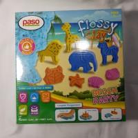 Paso Flossy Clay Beach Party Mainan Anak Edukasi SNI 300 ml hewan