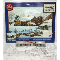 Paket Melukis Paint By Number Dimensions 91381 Winter Reflections