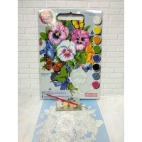 Paket Melukis Paint By Number Dimensions 91394 Pansy Bouquet Bunga