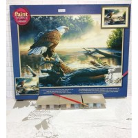 Paket Melukis Paint By Number Dimensions 91379 Eagle Hunter Elang