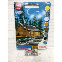 Paket Melukis Paint By Number Dimensions 91413 Lakeside Cabin