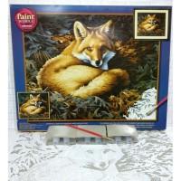 Paket Melukis Paint By Number Dimensions 91380 Sunlit Fox Rubah