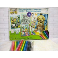 DISKON Paket Mewarnai Paint By Number Dimensions 91337 Friendly Animal