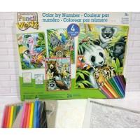 Paket Mewarnai Paint By Number Dimensions 73-91451 Animal Variety Pack