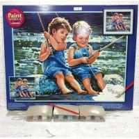 Paket Melukis Paint By Number Dimensions 91414 Fishing Pals Memancing